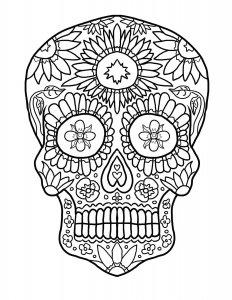 Imagenes-de-cráneos-mexicanas-para-dibujar-y-colorear