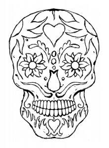 colorea cráneos mexicanos